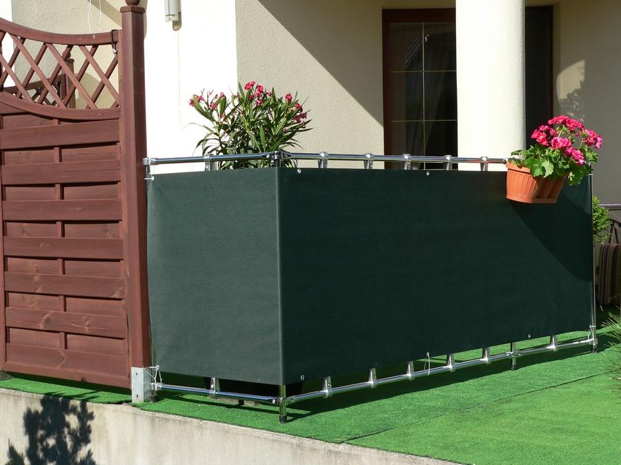 osłona balkonowa zielona