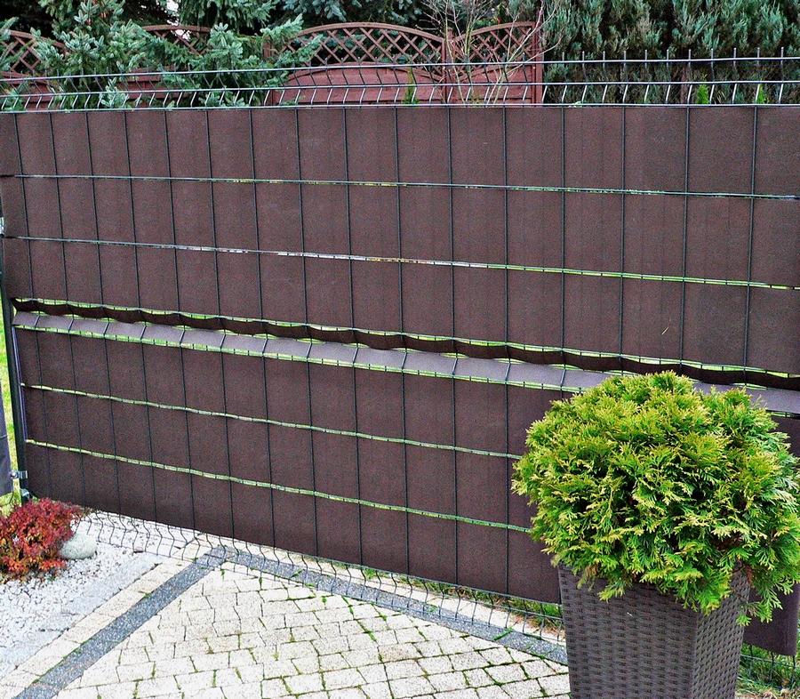 osłonięty panel ogrodzeniowy